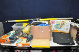 A SELECTION OF MISCELLANEOUS ITEMS including a Black and Decker Sander and Heat gun (both PAT pass