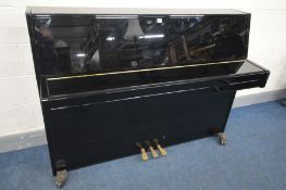 YAMAHA (c2005) A MODEL B1 PE OVERSTUNG UPRIGHT PIANO, in an ebonised gloss case, serial number
