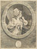 Augustin de Saint-Aubin, French 1736-1807- Au moins soyez discret & Comptez sur mes sermens;