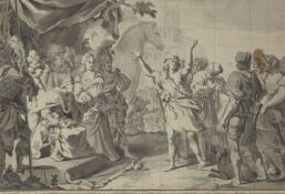 French School, late 18th/early 19th century- Cassandra warning King Priam not to admit the Greek's