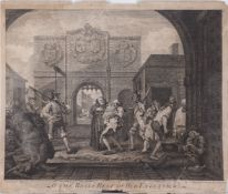 Charles Mosley, British c.1720-1770- O The Roast Beef of Old England, after William Hogarth FRSA,