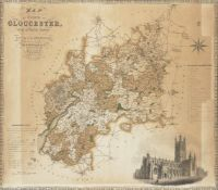 Christopher Greenwood, British 1786-1855- and James Greenwood, British fl.1821-40- Map of the County