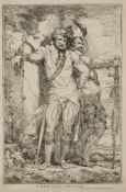 John Hamilton Mortimer, British 1740-1779- Banditti on the lookout and A Captain of Banditti sending