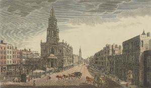 Thomas Bowles III, British c. 1712-1767- A view of Somerset House with St Marys Church in the Strand