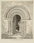 John Sell Cotman, British 1782-1842- South Doorway, Hales Church, Norfolk; etching, Bohn edition,