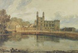 After Joseph Mallord William Turner RA, British 1775-1851- Stonyhurst in 1779; reproduction print,