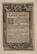 Guillaume Vallet, French c. 1634-1704- Frontispeice: In Nativitate, b. Mariae Virginis, After