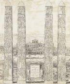 Joan Blaeu, Dutch 1596-1673- Obeliscus olim Veranus and Obeliscus olim Ramesseus; copper engravings,