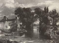 David Lucas, British 1802-1881- Mill Stream, 1855, after John Constable RA; mezzotint on wove,