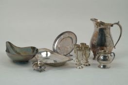 A large twin-handled silver plated tray, Ellis Barker Silver Co., c.1910, with pierced sides and