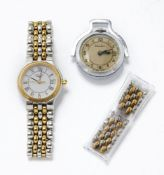 A ladies' Longines Les Grandes Classiques wristwatch, the white circular dial with Roman numerals