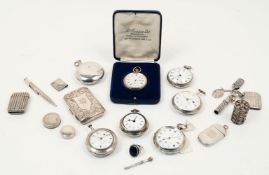 AMENDMENT: Please note that this lot contains six silver pocket watches (as illustrated) rather tha