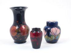William Moorcroft (1872-1945), a large baluster form vase with flaring rim, c. 1925, of