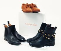 A selection of women's designer shoes, to include: a pair of Crocket & Jones women's suede