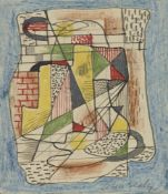 Colin Sealy, British 1891-1964- Abstract composition; pen and coloured ink and coloured pencil,