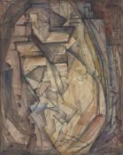 Elsie Marian Henderson, British 1880-1967- Cubist Landscape; watercolour, bears a stamp on the