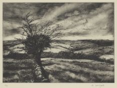 Kathleen Woods, British late 20th century- Apres-Midi; acrylic on canvas board, signed, 39.5x49cm: