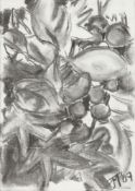 Frederick Donald Blake, British 1908-1997- Branches with a garden urn; watercolour, signed, 40x28cm: