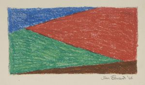 John Edwards, British 1938-2009- Untitled abstract; pastel and pencil on paper, signed and dated '
