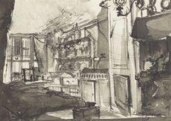 Peter Proud, Scottish 1913-1989- The Tenement Room: Murdered Girl's Bedroom: Murder Locality, Bridge