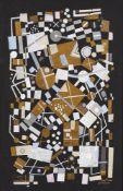 Larissa Gousterina, Russian b.1943- Composition sur noir, 1996; gouache on paper, signed and