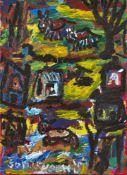John Sheehy, British/Irish b.1949- Wondering if it will rain, 2005; acrylic on canvas, signed, bears