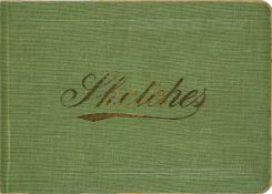 Winifred Margaret Knights, British 1899-1947- A sketchbook containing three drawings in pen and