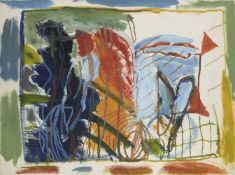 Martin Fuller, British b.1943- Untitled abstract; acrylic on paper, signed and dated '89, 57.