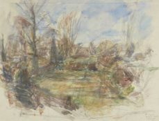 Christopher Pemberton, British 1923-2010- Poppies, Bardwell, 1993; pencil and watercolour, signed