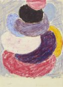 Sir Terry Frost RA, British 1915-2003- Untitled, 1970; wax pastel and pencil, signed and dated in