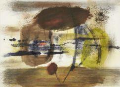 Clarke Hutton, British 1898-1984- Abstract watercolour compositions, 1963; watercolour, felt tip,