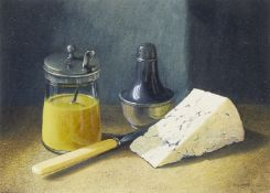 Tim Gustard, British b.1954- English Mustard; acrylic on board, signed, 13x18cm, (ARR) Provenance: