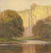John Edgar Platt, British 1886-1967- The Derwent, near Bonsall Matlock; oil on panel, signed,