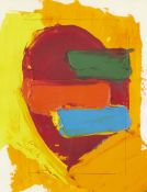 John Hoyland RA, British 1934-2011- Composition for the Deck of Cards, 1976; oil with pencil on