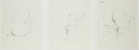 Adrian Heath, British 1920-1992- Nude studies from the artist's sketch book, c. 1976; pencil, a