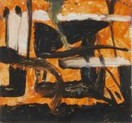 Maurice Cockrill RA, British 1936-2011- Pocket Kingdom; oil on board, 11x11.5cm, (ARR) Provenance: