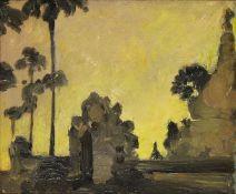 Sir Gerald Festus Kelly KCVO PRA, British 1879-1972- Pagoda at Magway Burma; oil on panel, inscribed