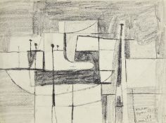 Henry Cliffe, British 1919-1983- Lyme Regis, 1952; pencil, signed, titled and dated in pencil,