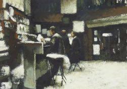 Clive McCartney, British b.1960- Bar in Busquito, Spain; oil, 25x34cm (ARR) Provenance: Duncan