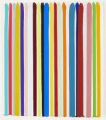 Ian Davenport, British b.1966- 22, 2014; acrylic and water-based paints on Fabriano Aristico
