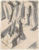 David Bomberg, British 1890-1957- Ghetto Theatre, 1919; ink and wash, 26.5 x 20.4cm (ARR)