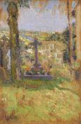 Walter Richard Sickert RA PRBA NEAC, British 1860-1942- Chagford Churchyard, 1916; oil on panel,