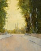 Sir Gerald Festus Kelly KCVO PRA, British 1879-1972- Street scene, possibly Isle-de-France, 1919;