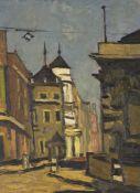 Sir Kyffin Williams KBA RA, Welsh 1918-2006 Lower Thames Street, London, 1955; oil on panel, 41x31cm
