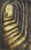 Tessa Newcomb, British b.1955- Passage, 2004; oil on board, 24x15cm, (ARR) Provenance: Crane