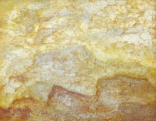 Albert Houthuesen, Dutch/British 1903-1979- Olive Mountain, c.1966; oil on canvas board, 35.5x45.