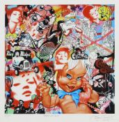 Ben Frost, Australian b.1975- Baby Shambles; giclee print in colours on wove, signed, titled and