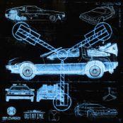 J J Adams, British b.1978- Great Scott!!- Delorean X-ray, 2015; original illuminated lightbox,