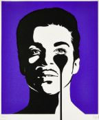 Pure Evil, British b.1968- Purple Rain, 2020; screenprint in colours on wove, signed and numbered