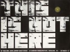 John Lennon MBE & Yoko Ono, British 1940-1980 & Japanese b.1933- This Is Not Here, 1971;